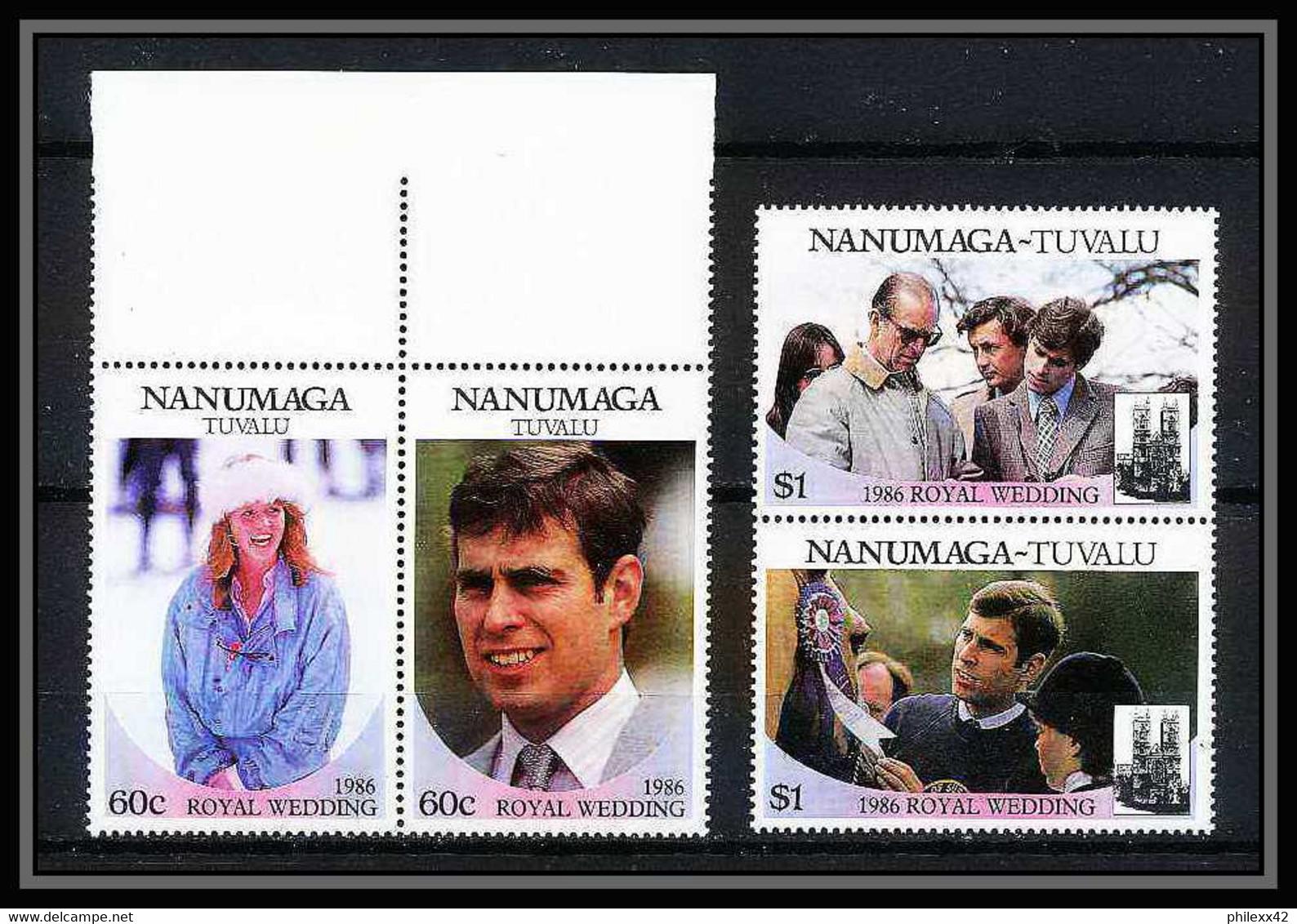 606a Nanumaga Tuvalu ** MNH Sc N° 71 / 72 Royal Wedding Of Prince Andrew And Sarah Ferguson - Tuvalu (fr. Elliceinseln)