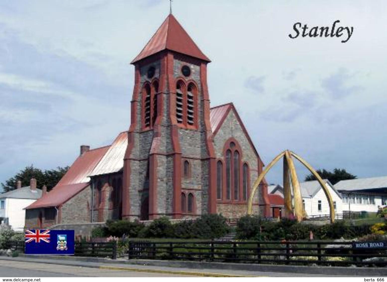 Falklands Islands Stanley Church New Postcard Malwinen AK - Falklandeilanden