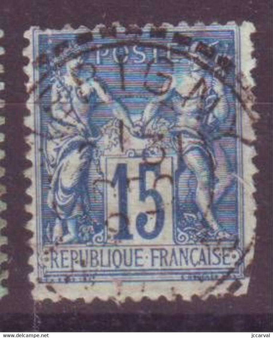 Merigny Indre (36) Oblitération Type 25 Perlé Sur Sage Défectueux - 1877-1920: Periodo Semi Moderne