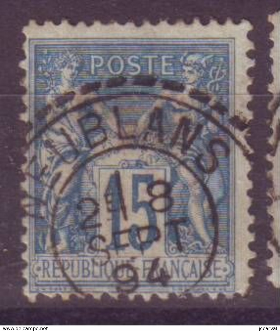 Neublans Jura (39) Oblitération Type 25 Perlé Sur Sage - 1877-1920: Semi Modern Period