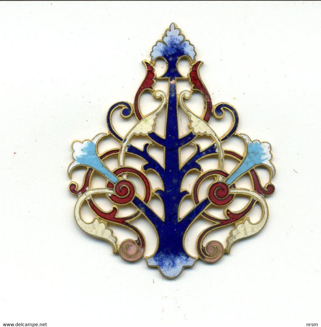 Décoration Bronze-laiton émaillé époque Art Déco (bijou, Décoration Mobilier, Etc ?) / (fin XIXème - Début XXème) - Bronces