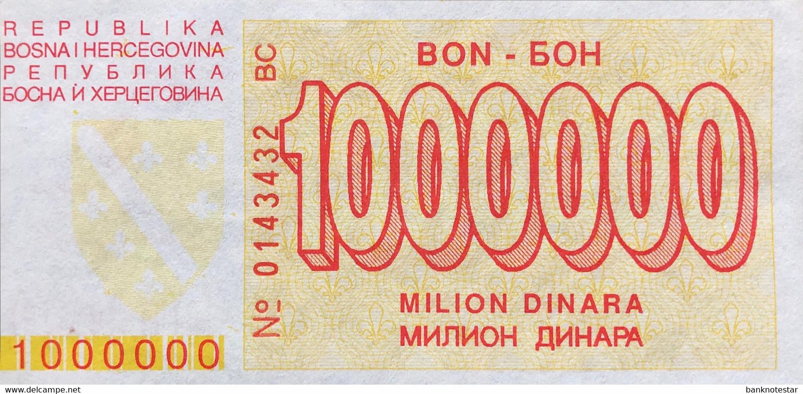 Bosnia 1.000.000 Dinara, P-33 (1.1.1994) - UNC - Very Rare In This Condition - Bosnia And Herzegovina