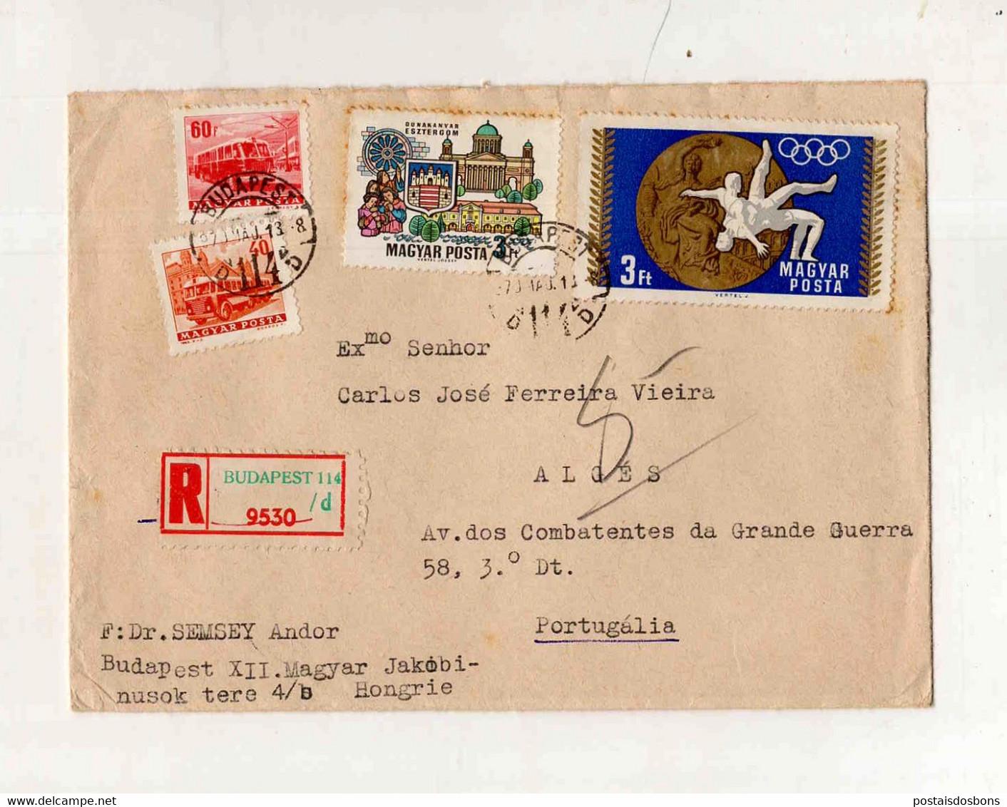 Cx15 57) Hongrie Hungary Magyar Posta 1970 Semsey Andor > Portugal Portugália Olimpia - Unclassified
