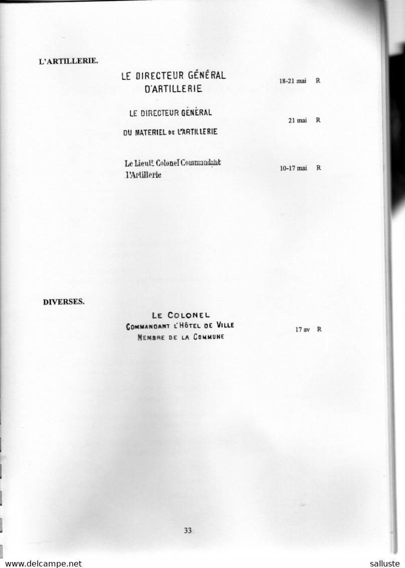 MARQUES HISTORIQUES ET ADMINISTRATIVES DE LA COMMUNE DE PARIS- ( ESSAI DE REPERTOIRE , 18 Mars /28 Mai 1871, - Philately And Postal History