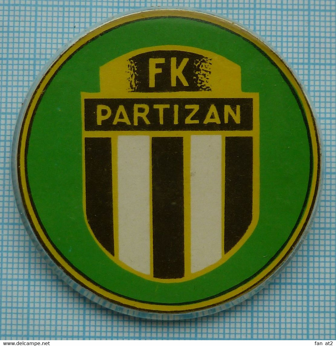 USSR / Badge / Soviet Union / Football FK PARTIZAN. Belgrade. Yugoslavia. 1970-80s - Calcio