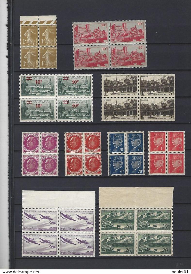 Collection Neuve Sans Charnières En Bloc De Quatre Du N° 277 B Au N° 1188  Pour Une Cote De + 240 Euros ( 4 Scans) - Verzamelingen