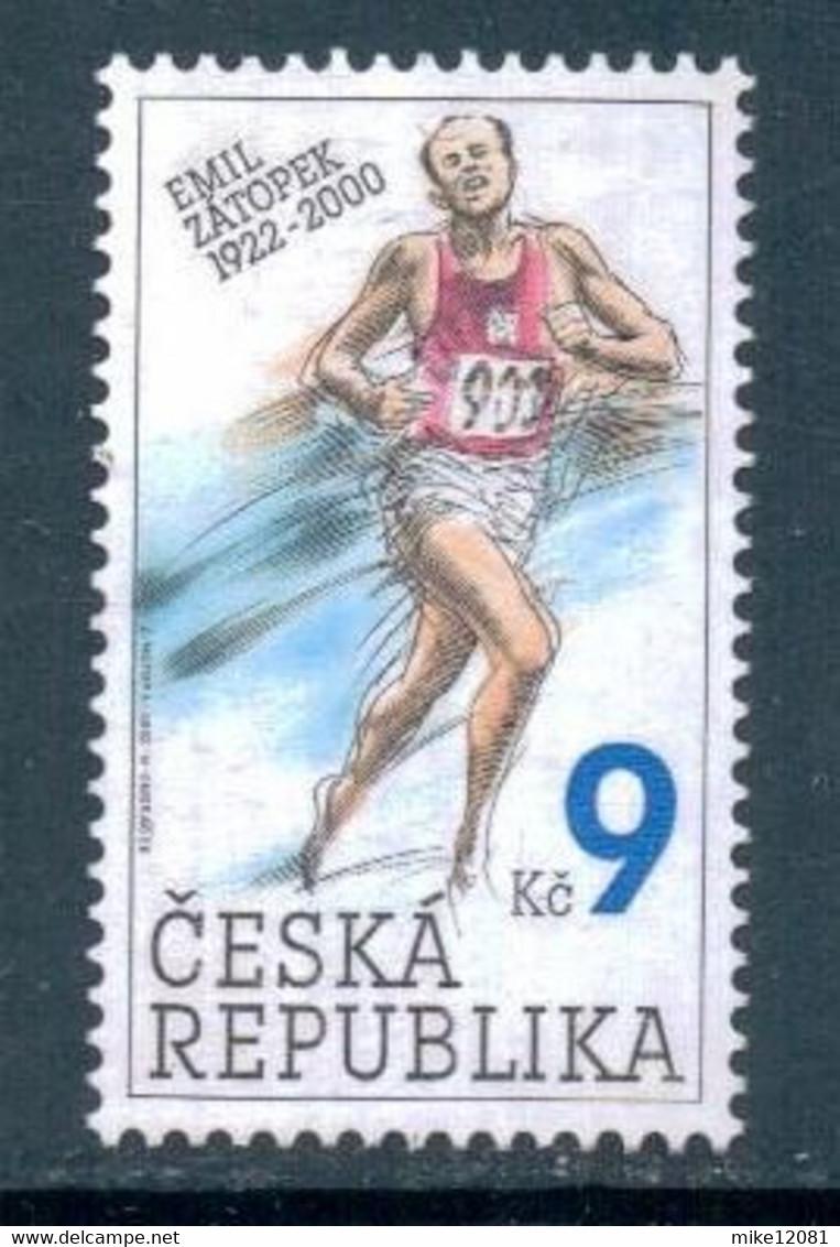 2002 Czech Republic Olympic Games, Emil Zatopek, Olympic Champion 1948 1952 1 Stamp, Michel # 331 MNH - Estate 1948: Londra