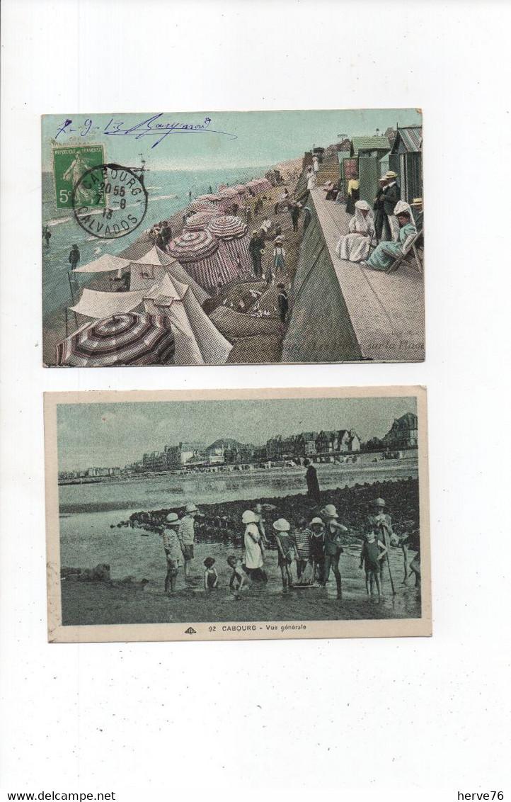 LOT 10 CPA Animées - CABOURG - La Plage - Cabourg
