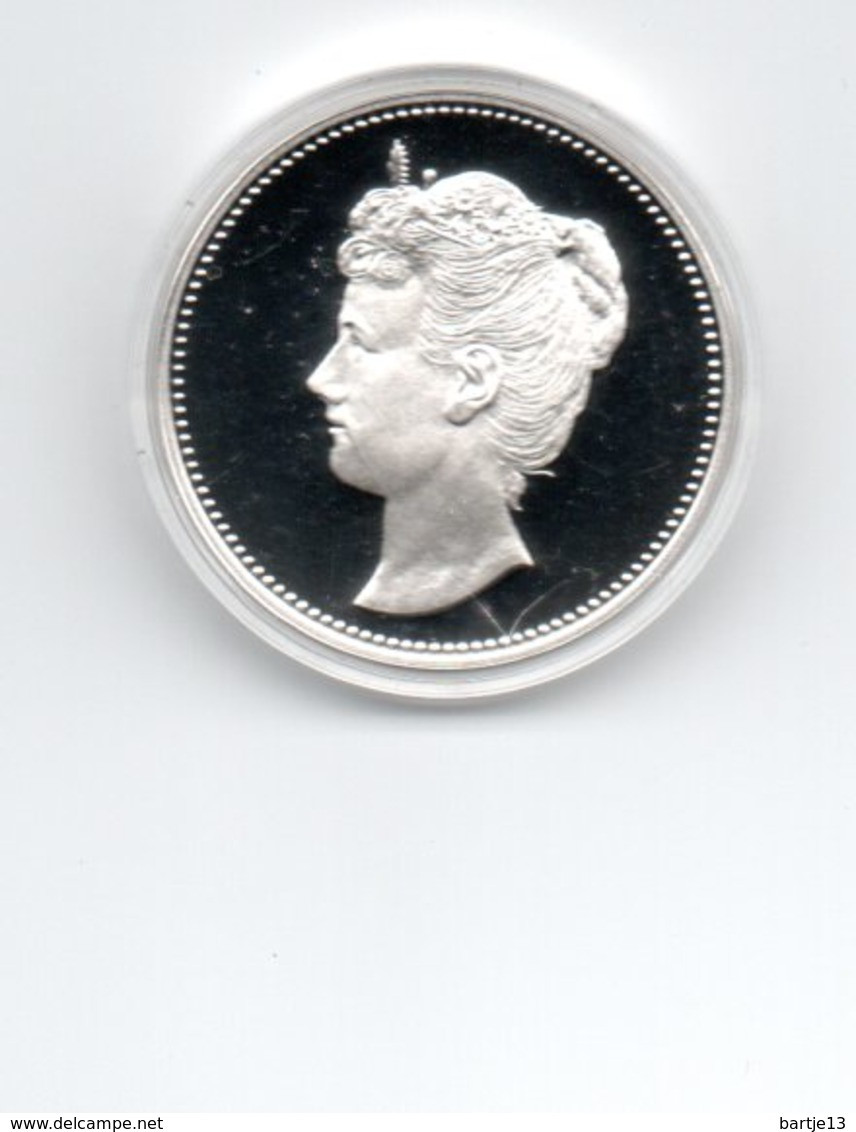 NEDERLAND PENNING WILHELMINA ZILVER PROOF 25 GRAM JE MAINTIENDRAI - [ 6] Trade Coins