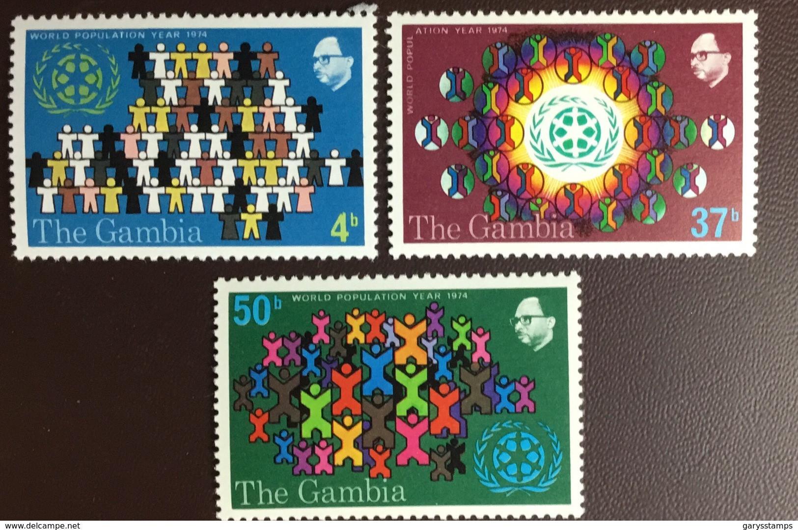 Gambia 1974 Population Year MNH - Gambia (1965-...)