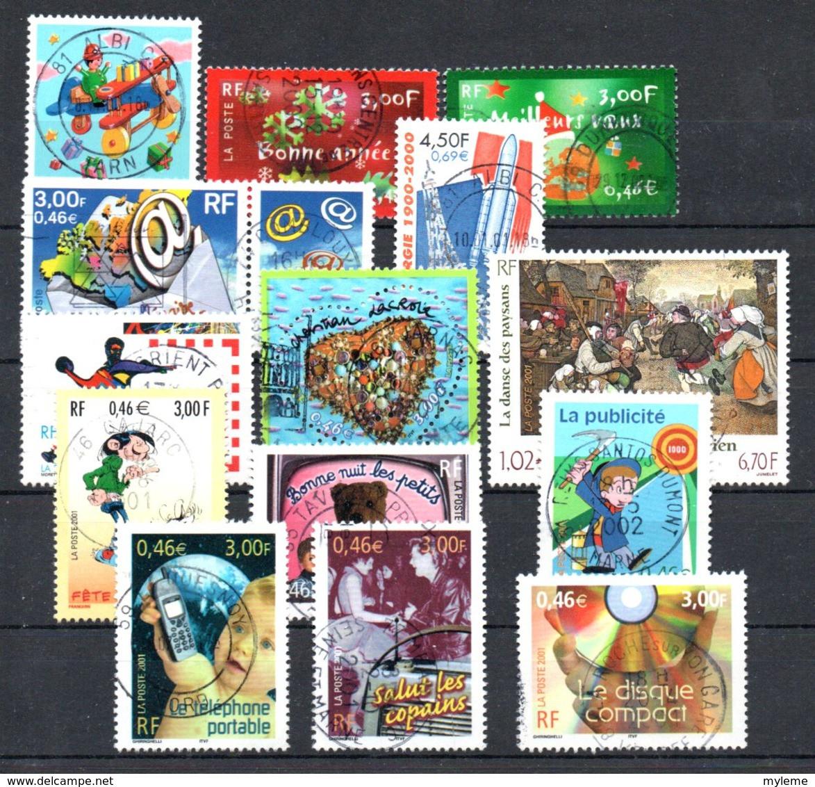 B387-23 France Oblitéré N° 3362 à 3361 (oblitération Ronde En Majorité) à 10% De La Côte !!! - Used Stamps