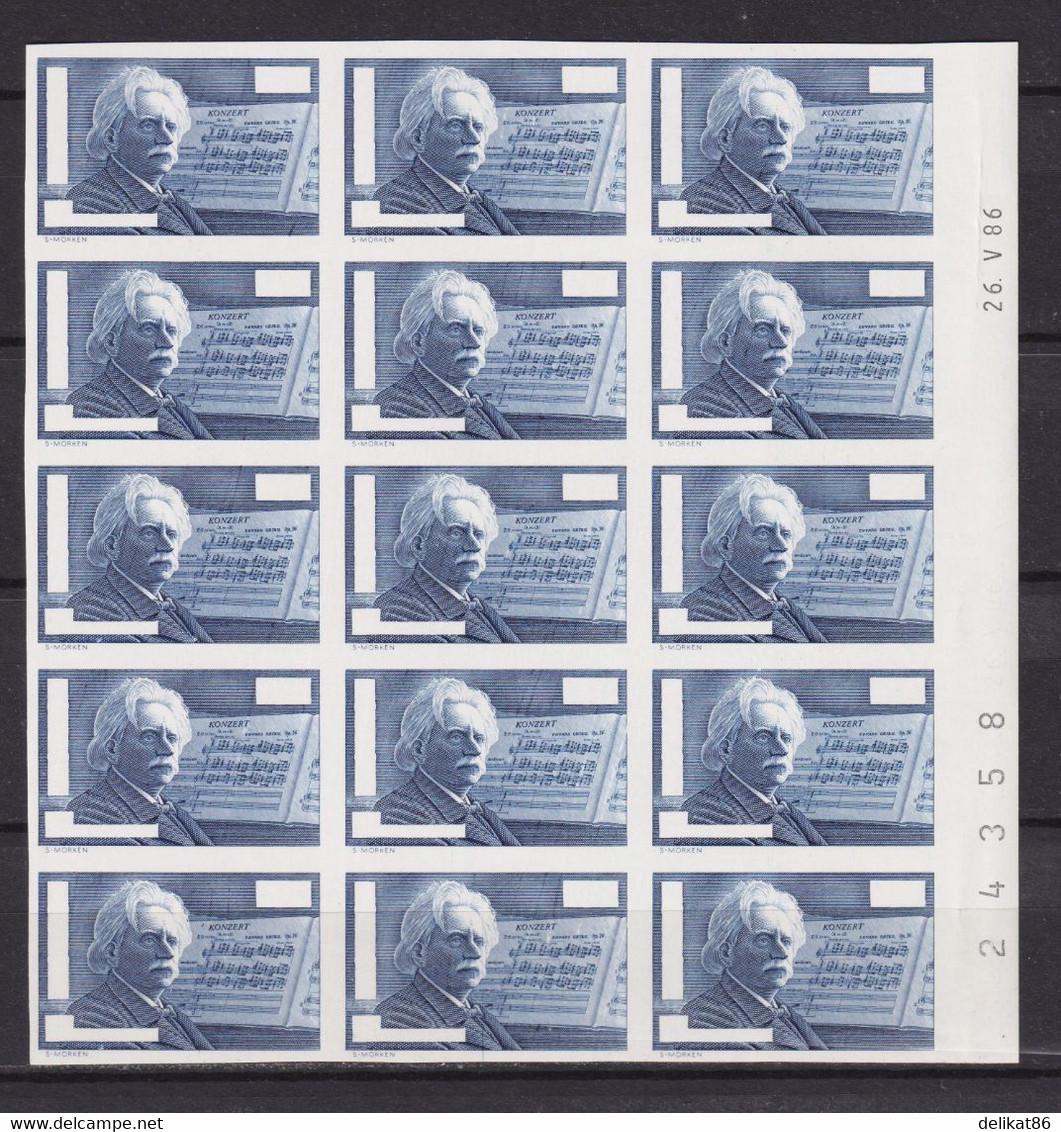 Probedruck Test Stamp Specimen Pruebas Edvard Grieg Prove 1986 - Proofs & Reprints