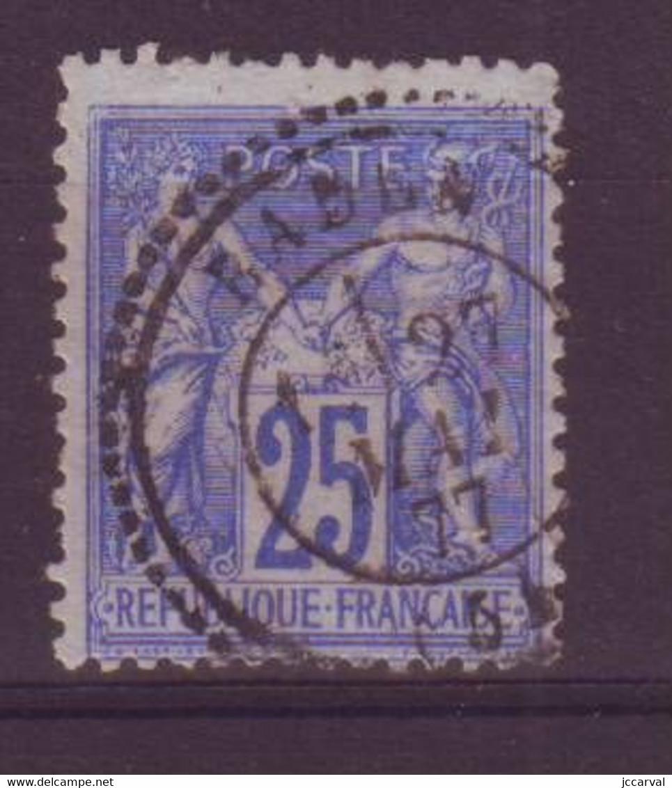 Baden Morbihan (56) Oblitération Type 24 Perlé Sur Sage - 1877-1920: Semi Modern Period