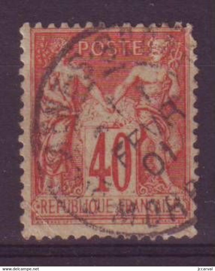 Guéméné Sur Scorff Morbihan (56) Oblitération Type A1 Sur Sage - 1877-1920: Periodo Semi Moderno