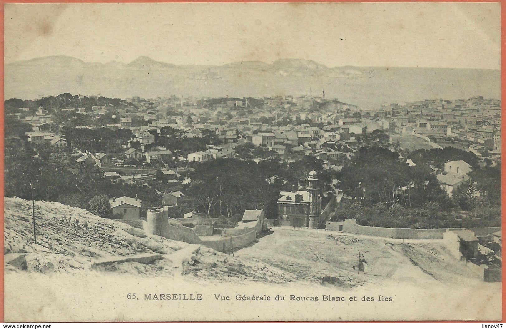 -  13   -  MARSEILLE  -  Vue  Générale  Du  Roucas  Blanc  Et  Des  Iles . - Endoume, Roucas, Corniche, Beaches