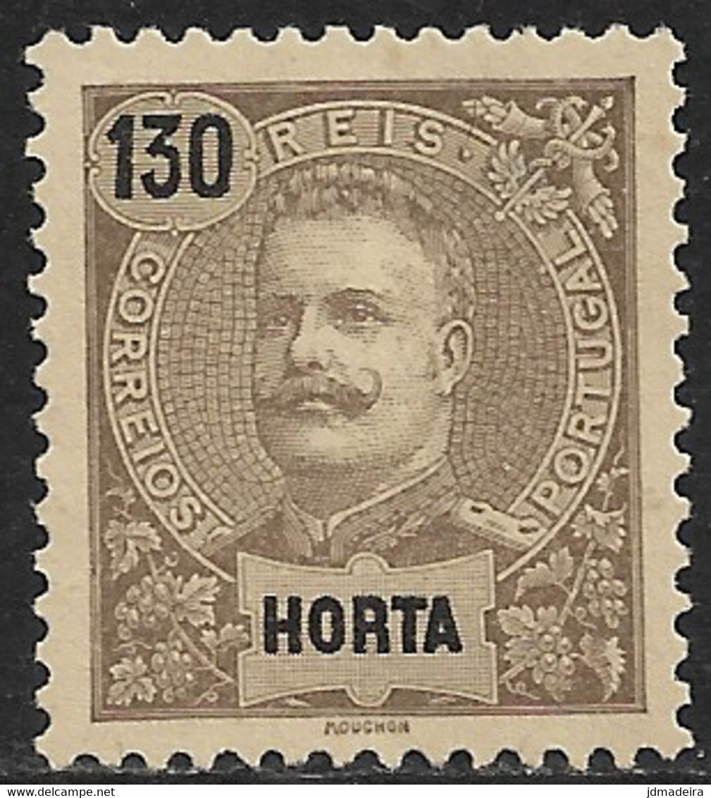 Horta – 1898 King Carlos 130 Réis - Horta