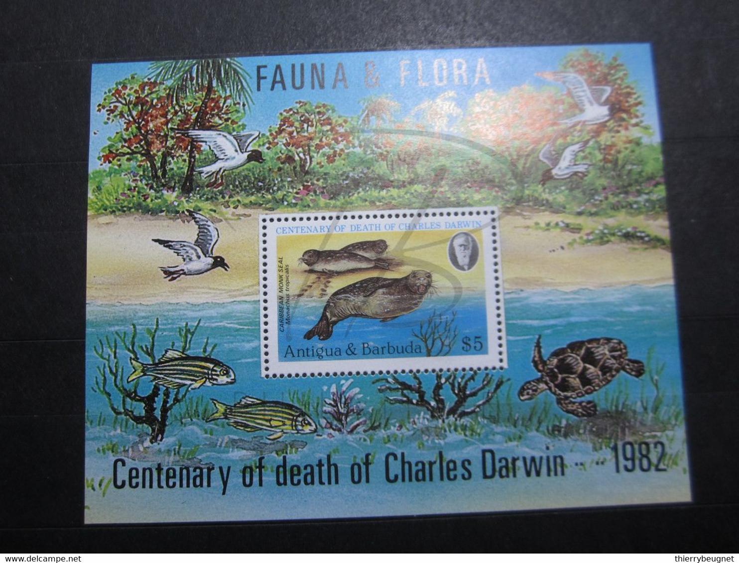 VEND BEAU BLOC DE TIMBRES D ' ANTIGUA N° 63 , XX !!! - Antigua And Barbuda (1981-...)