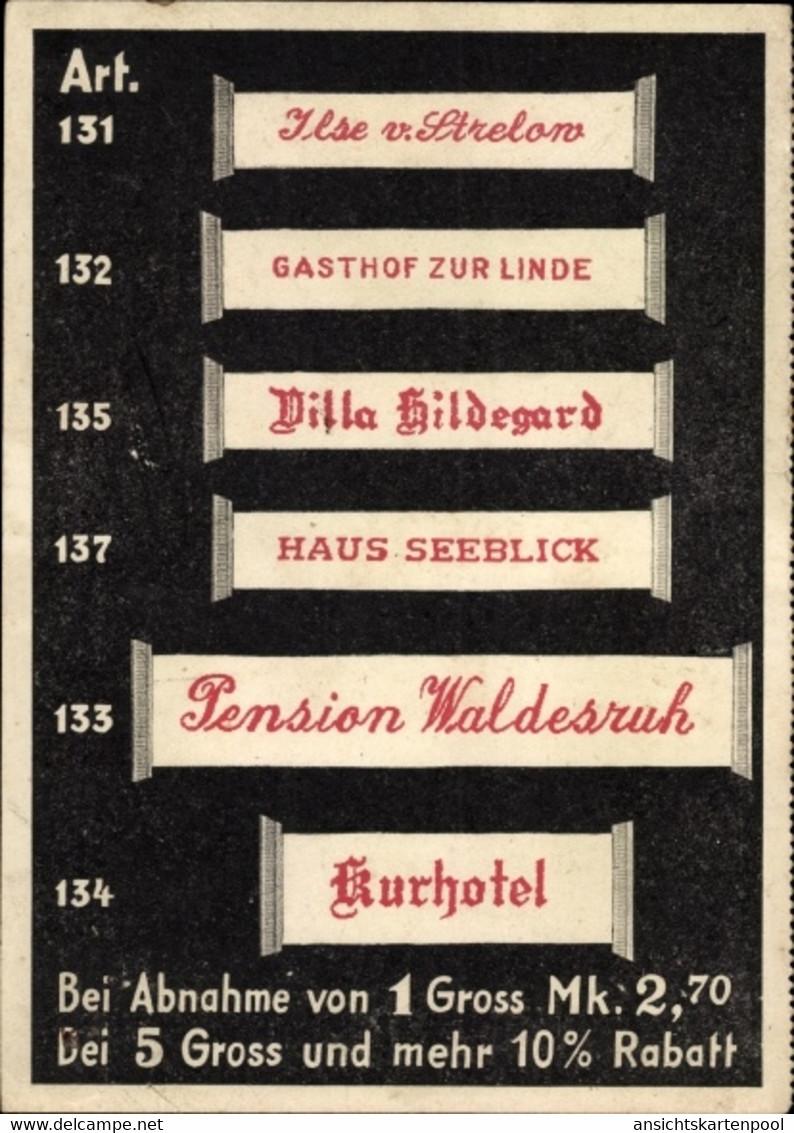 CPA Barmen Wuppertal, Wäschezeichenfabrik Max Windrath, Reklame - Altri