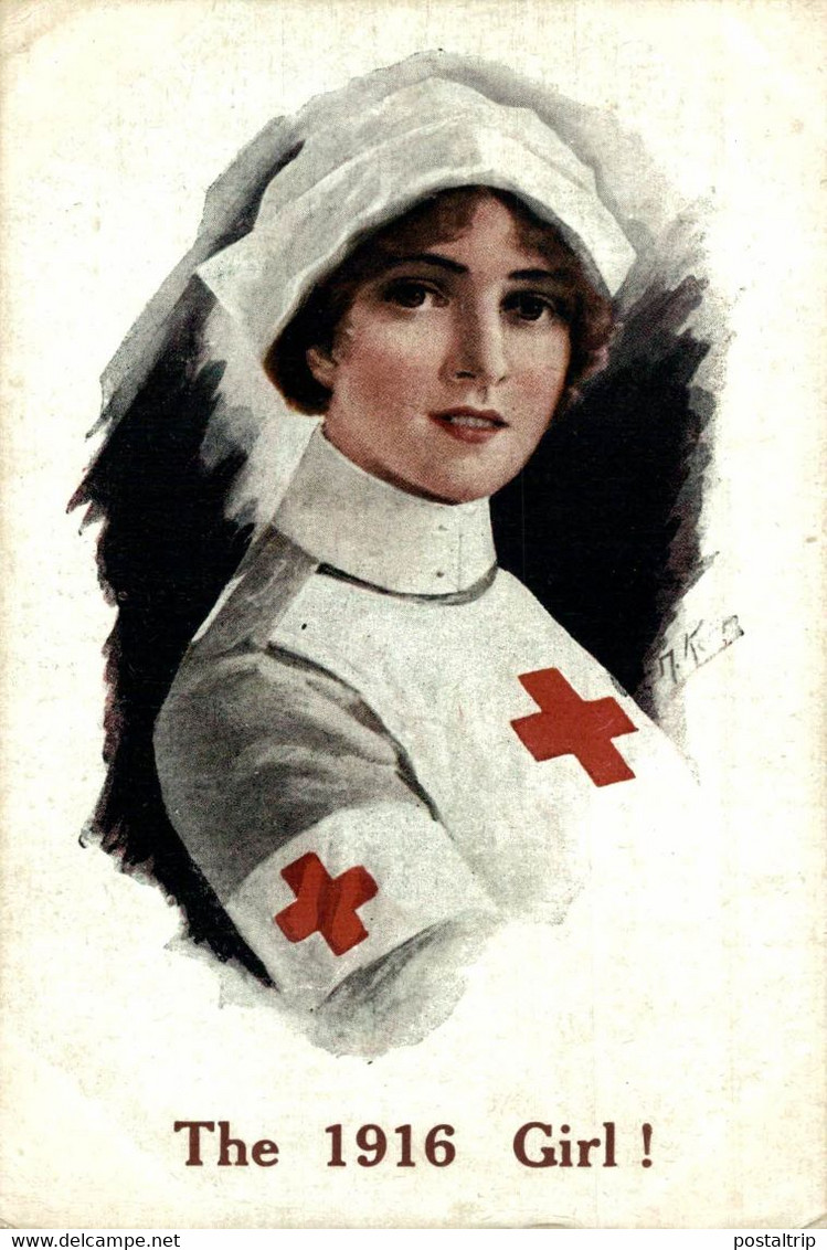 The 1916 Girl!. Red Cross La Croix Roug 1914/15 WWI WWICOLLECTION - Weltkrieg 1914-18