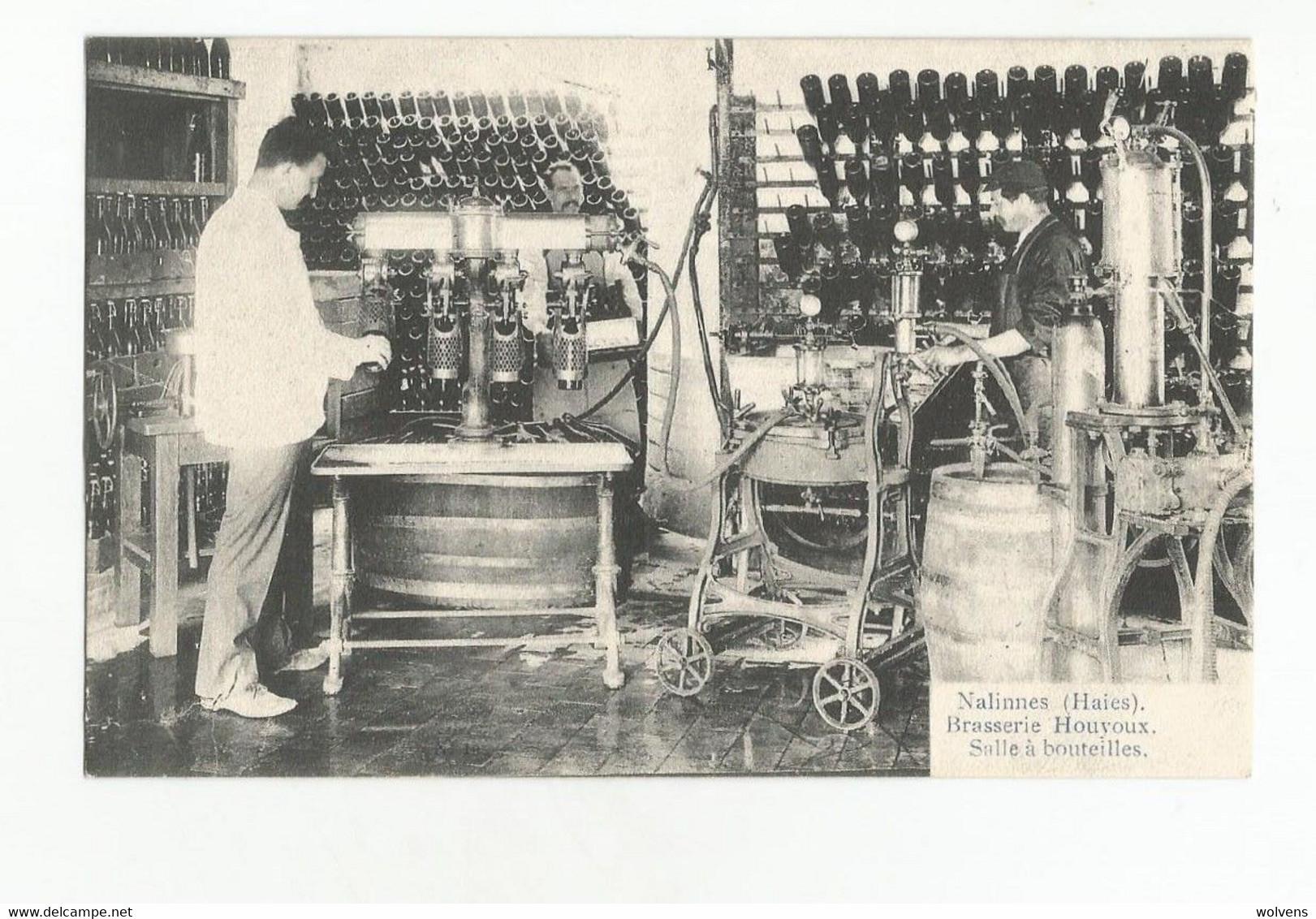 Nalinnes Haies Brasserie Georges Houyoux Salle De Mise En Bouteille CPA 1907 Pompes Soutirage Bierre Brouwerij - Ham-sur-Heure-Nalinnes