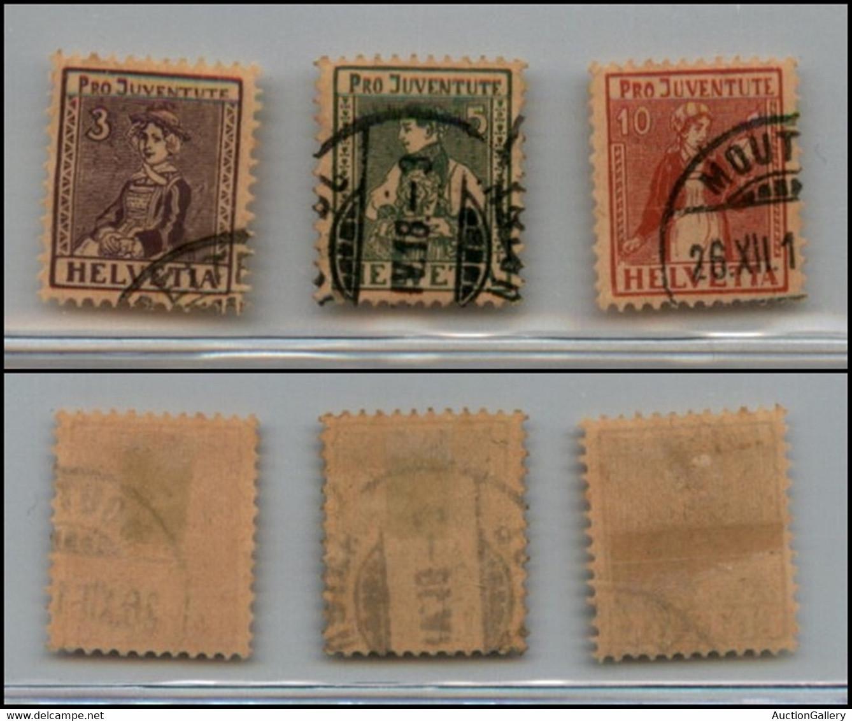 EUROPA - SVIZZERA - 1917 - Pro Juventute (133/135) Serie Completa - Usata - Unclassified