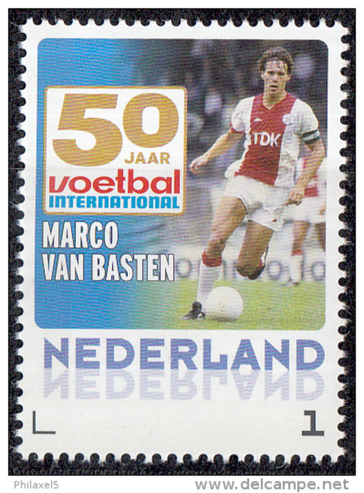 Nederland - 27 Augustus 2015 - 50 Jaar Voetbal International - Marco Van Basten - Ajax/AC Milan - MNH - Sellos Privados