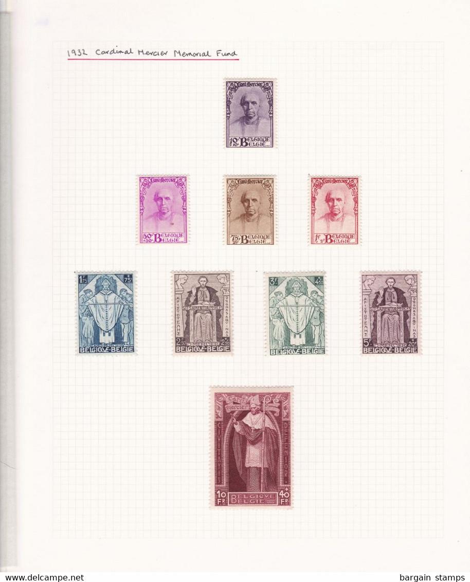 Belgique - COB 342/50 Série Commémorative Du Cardinal Mercier - Montés Sur Charnières - Voir Desc. - Cote ~600€ - 1932 - Belgium