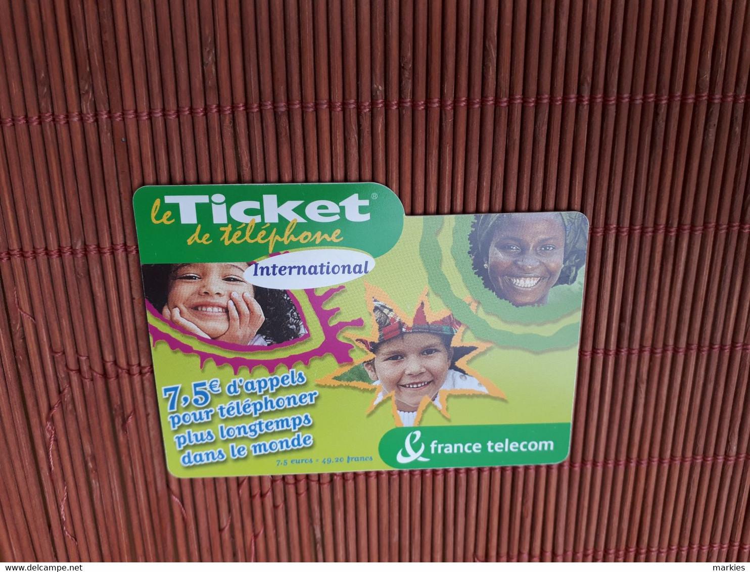 Ticket Prepaidcard 7,50 Euro France Used 2 Scans - Nachladekarten (Handy/SIM)