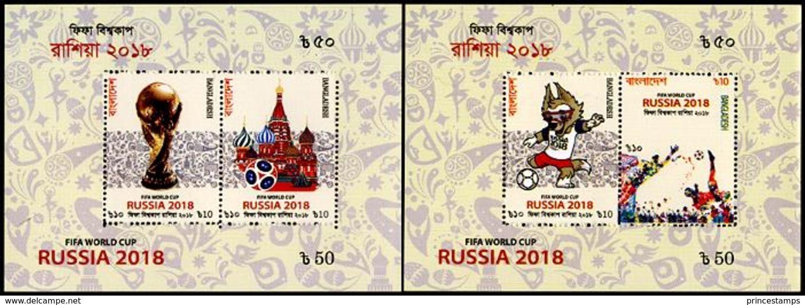 Bangladesh (2018) - 2 Blocks -  /  World Cup Russia - Soccer - Football - Calcio - Fussball - 2018 – Rusia