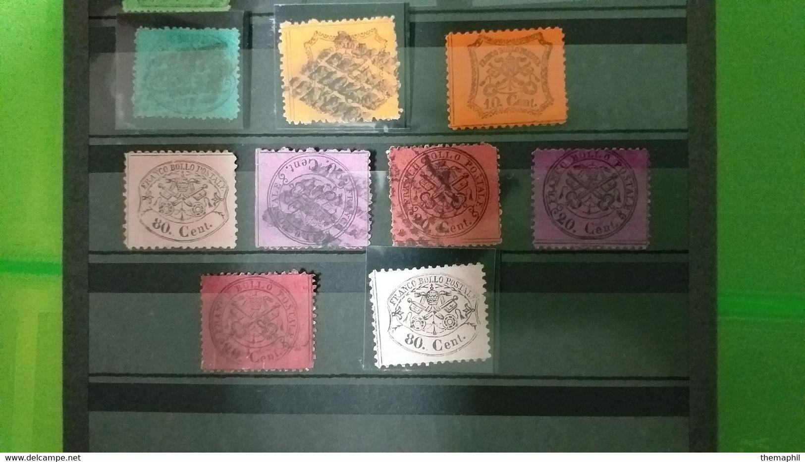 Lot N° TH 589  ITALIE  Un Lot D'anciens Etats Italiens , Forte Cote - Collections (with Albums)