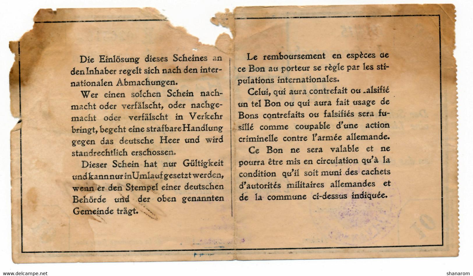 1914-1915 // BON DEICHMANN // Commune De HARLY (Aisne) // 10 Francs - Bonds & Basic Needs