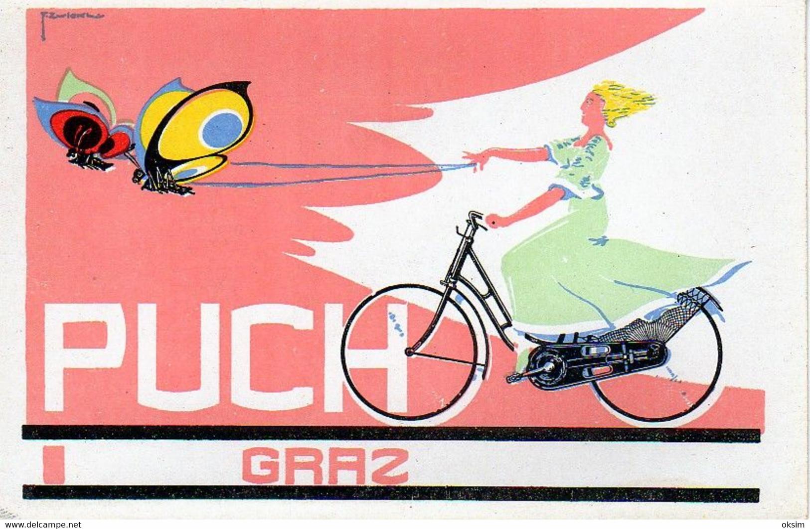PUCH, F. ZWICKL, PUCHWERKE A. G., GRAZ, WIEN, BICYCLE, FAHRRAD - Advertising