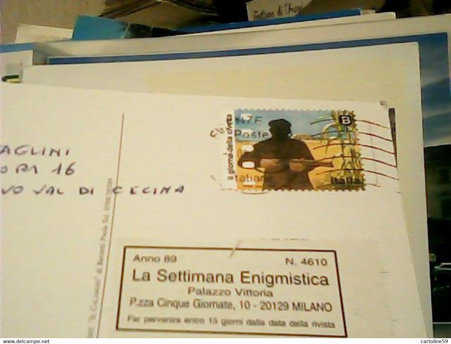 CASTELNUOVO VAL DI CECINA -GIARDINI STAMP Serie FILM B USATO SU BUSTA ISOLATO  HS56 - Pisa
