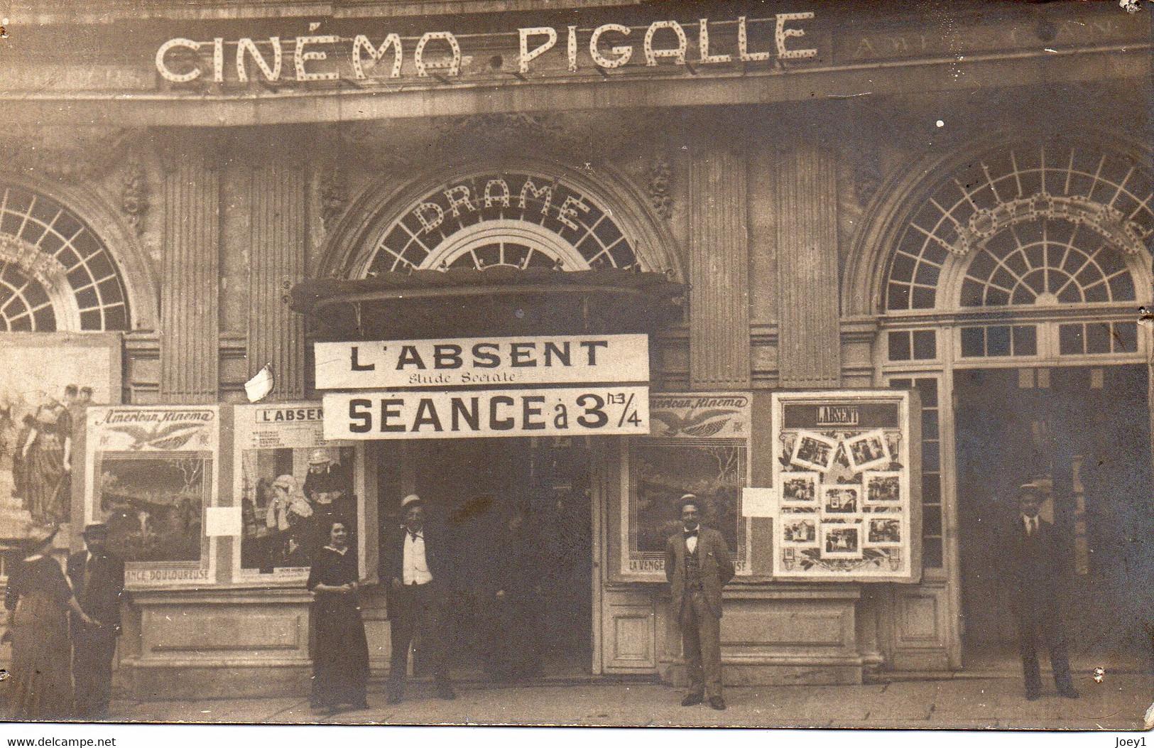 Carte Photo Paris Cinéma  Pigalle,Place Pigalle Début 20ème Siècle - Places