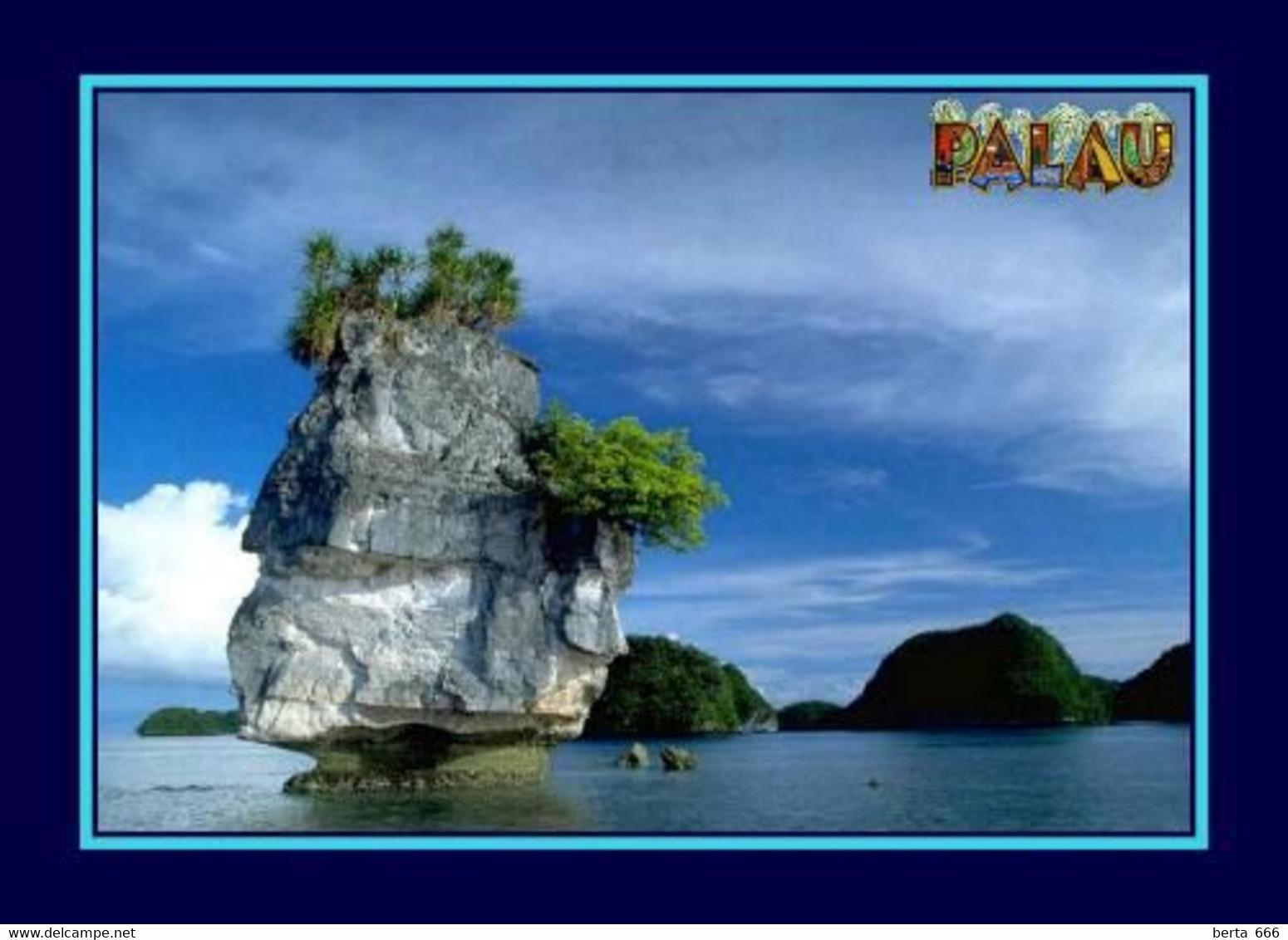 Palau Stack Rock UNESCO New Postcard - Palau
