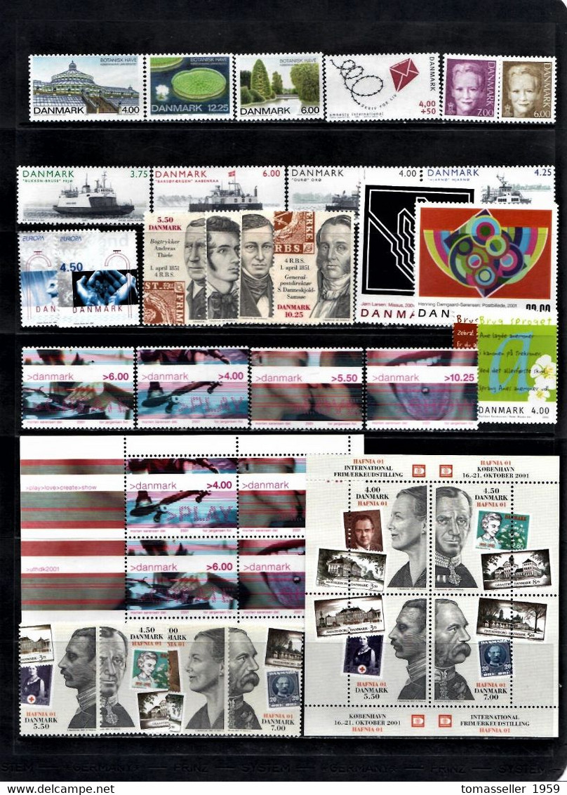 DENMARK 14 ( 1994-2007) Full Years Sets .Almost170 Issues (stamps+m/sh.) - Full Years