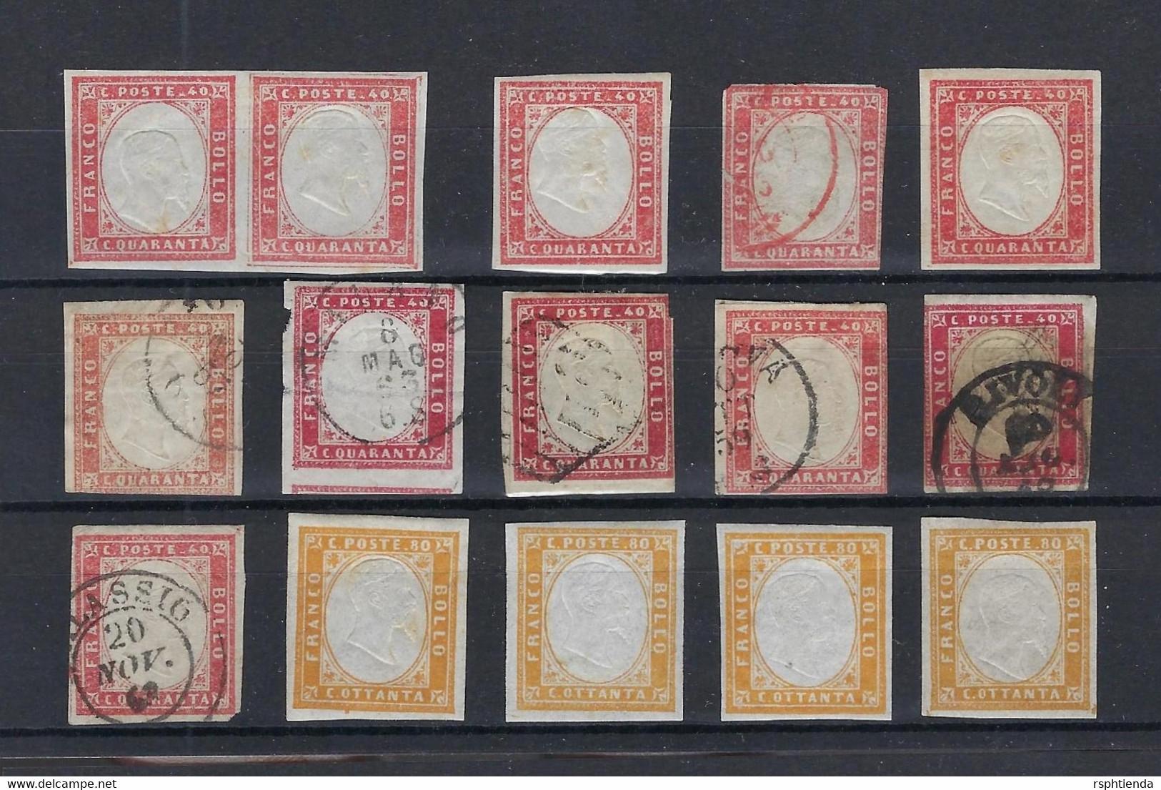 ITALY STATES 1852 TO 1961 NAPOLI , PARMA , SARDEGNA  STAMPS LOT HCV - Italy
