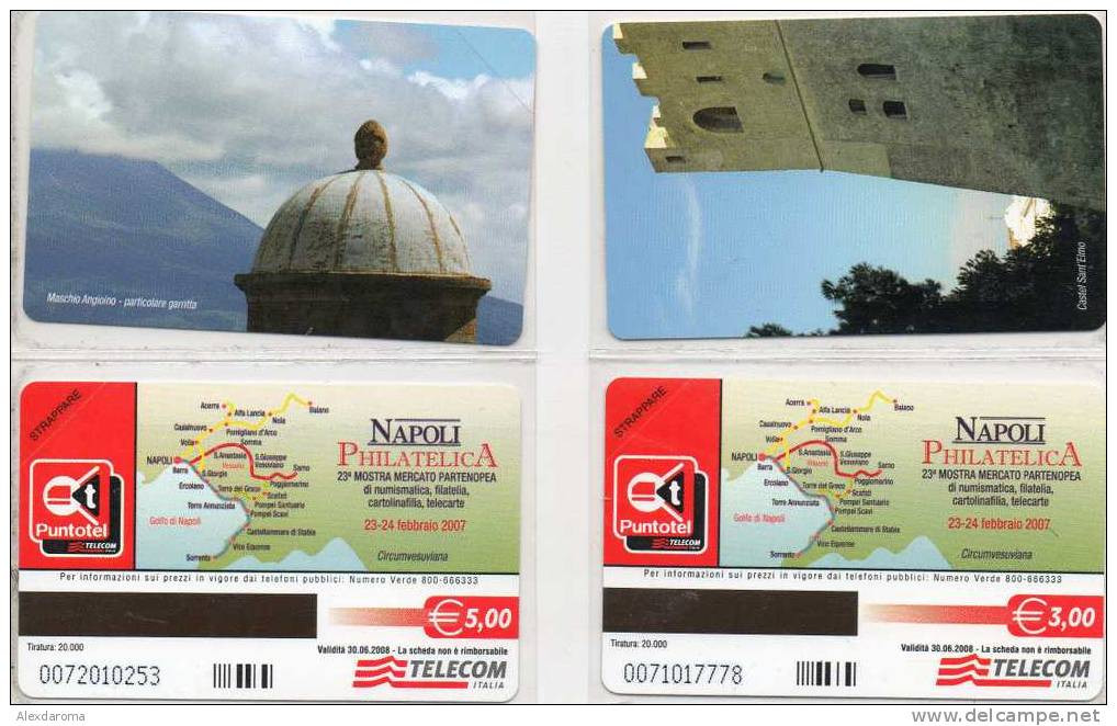 NUOVE  NAPOLI PHILATELICA 2 SCHEDE GOLDEN EURO 703/704 - Public Practical Advertising