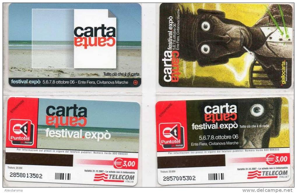 NUOVE CARTACANTA OTTOBRE 06 2 SCHEDE  GOLDEN EURO 729-730 - Public Practical Advertising