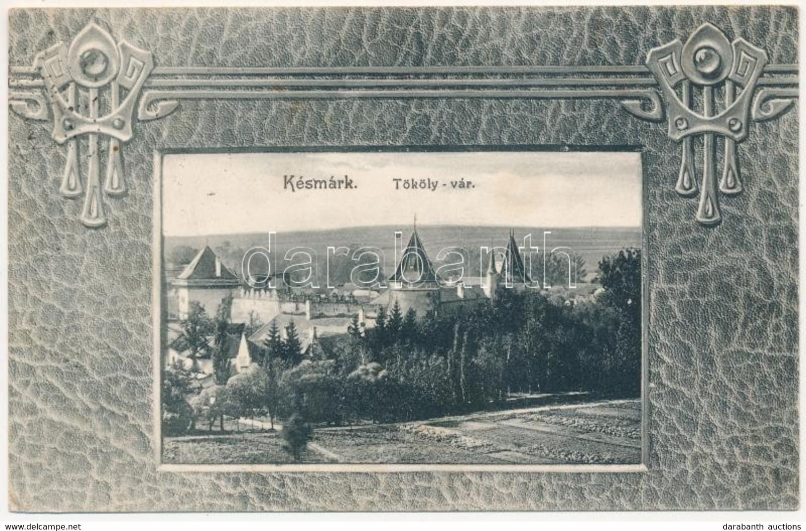 T2/T3 1908 Késmárk, Kezmarok; Tököly Vár, Szecessziós. Feitzinger Ede No. 687. / Castle. Art Nouveau - Unclassified