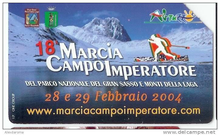 USATE 18 MARCIA CAMPO IMPERATORE GOLDEN Euro 286 - Public Practical Advertising