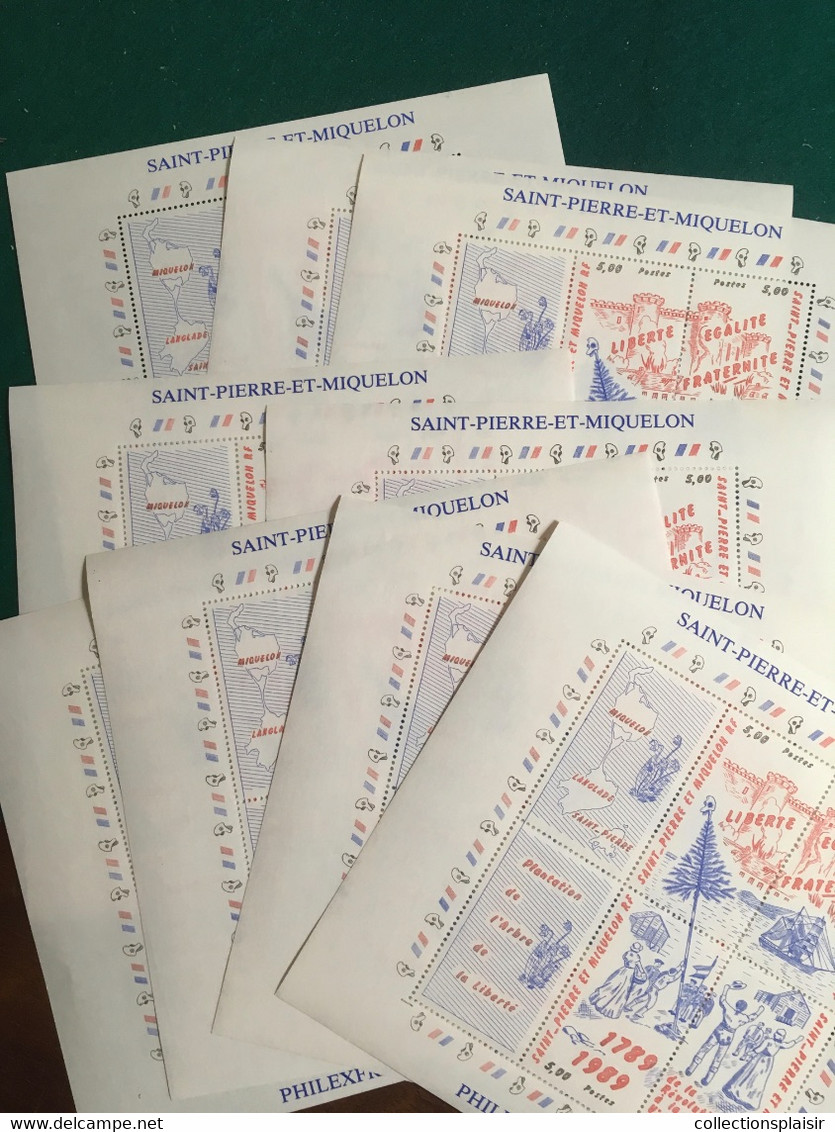 LIQUIDATION ST PIERRE ET MIQUELON 2000 à 2011 Quasiment Complet Et FEUILLE AVEC VARIÉTÉ - Unclassified