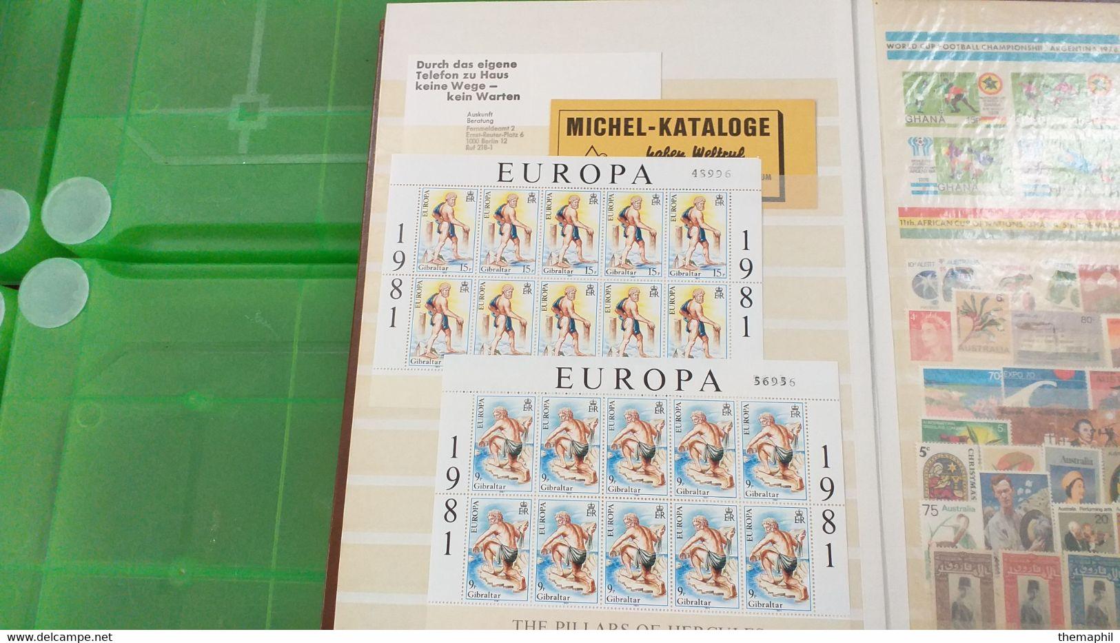 Lot N° TH 610  EUROPE Et Divers Un Bon Classeur De Timbres Neufs Xx Et Quelques Obl. - Sammlungen (im Alben)