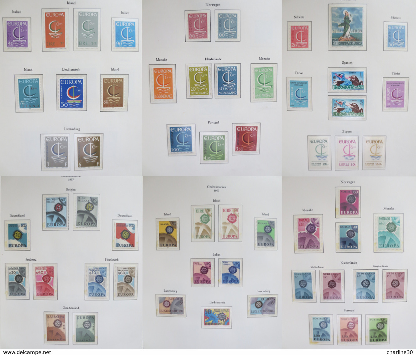EUROPA - COLLECTION ENTRE 1956 Et 1991 - NEUFS - COTE: 5000,00€ - Europe (Other)