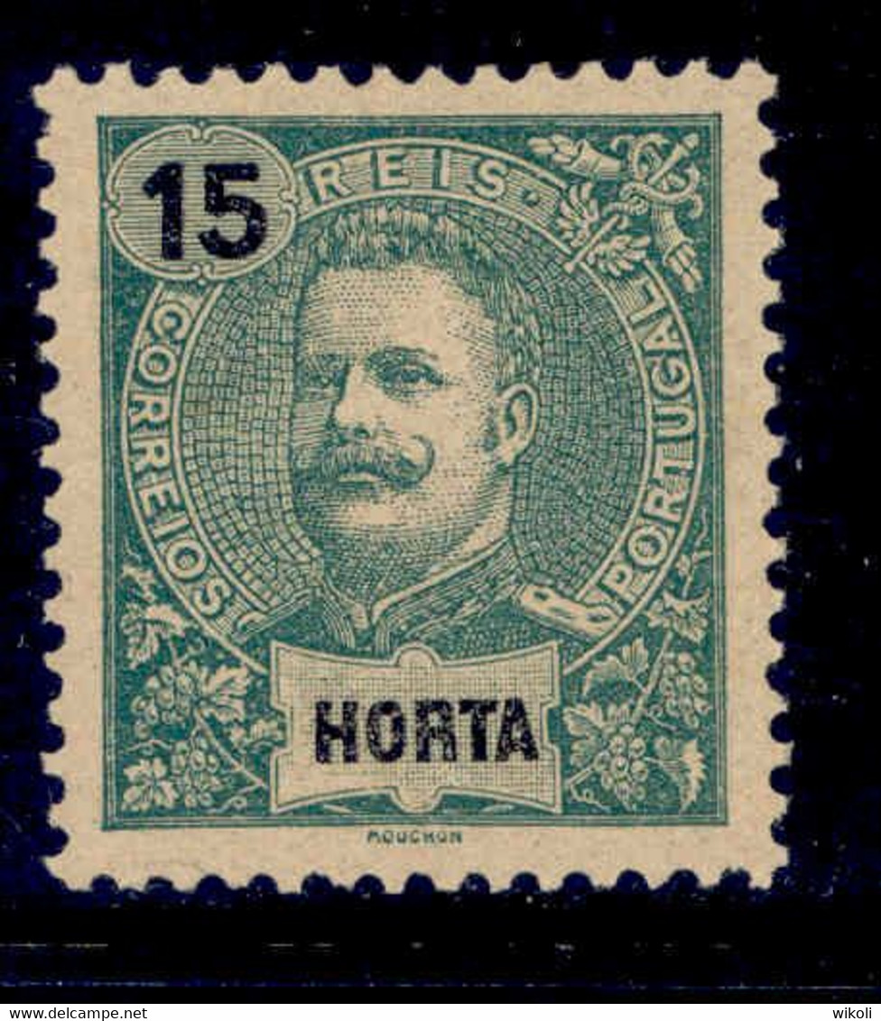 ! ! Horta - 1898 D. Carlos 15 R - Af. 27 - MH - Horta