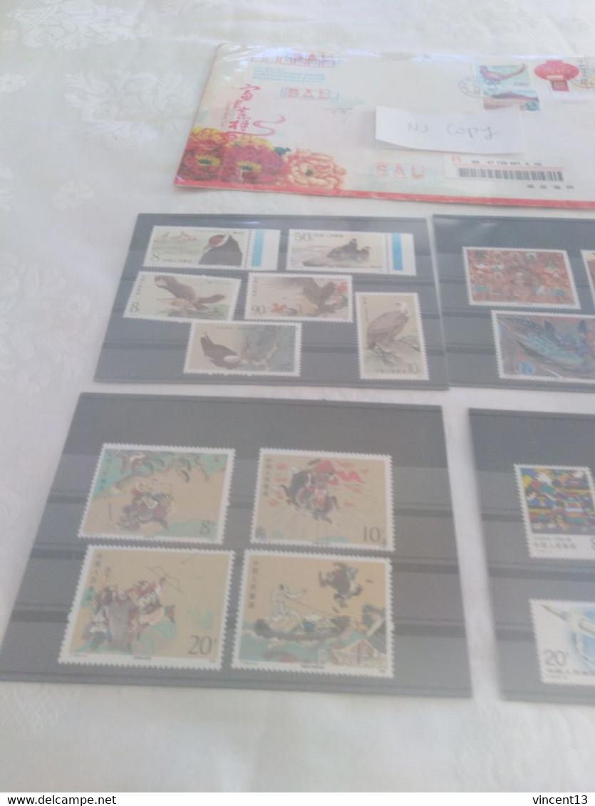 Lot De Timbres Neufs Chine Et Une Enveloppe Recommandée Nombreux Themes - Unclassified