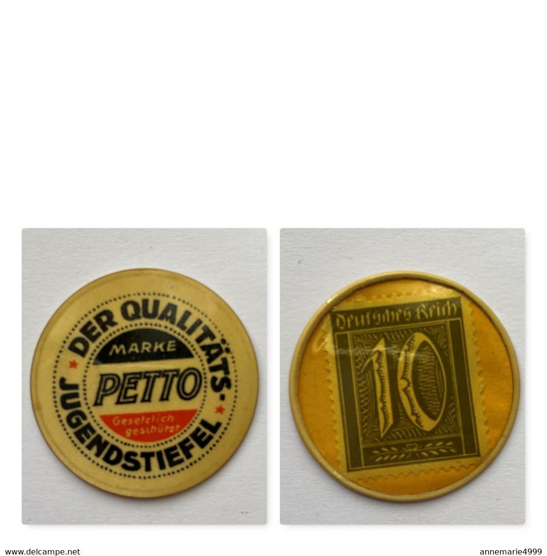 Deutschland , Kapselgeld , «PETTO» 10 Pf,  SIEHE KOMMENTAR Und BESCHREIBUNG , Timbre Monnaie, Encased Postage. - Otros