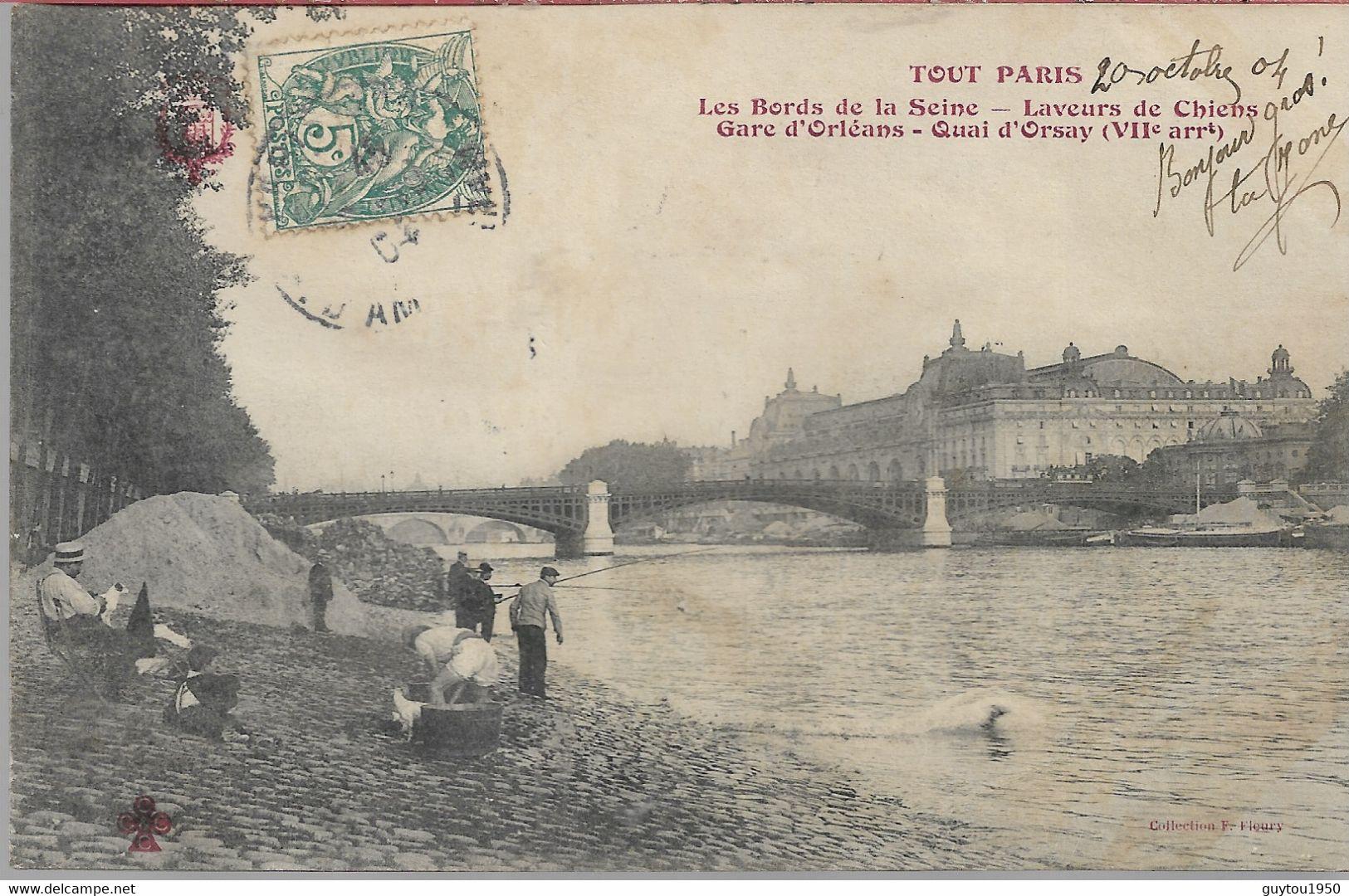 Tout Paris Les Bords De La Seine Laveur De Chiens - Arrondissement: 07