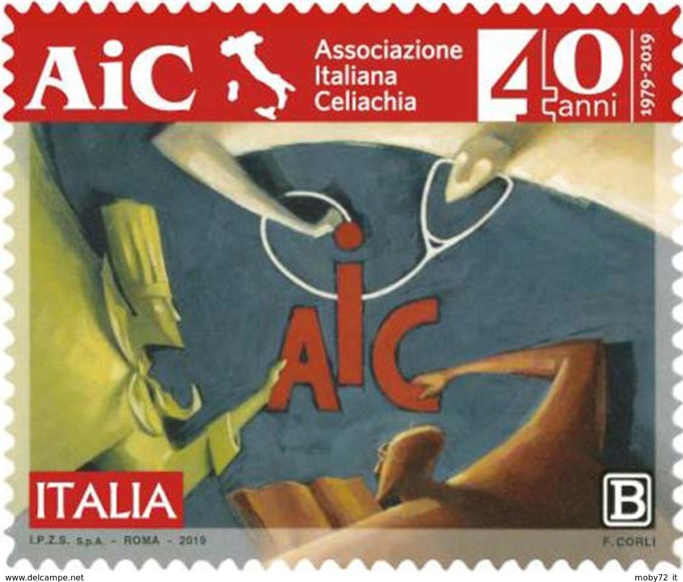 Italia - 2019 - Usato/used - Associazione Italiana Celiachia - 2011-...: Afgestempeld