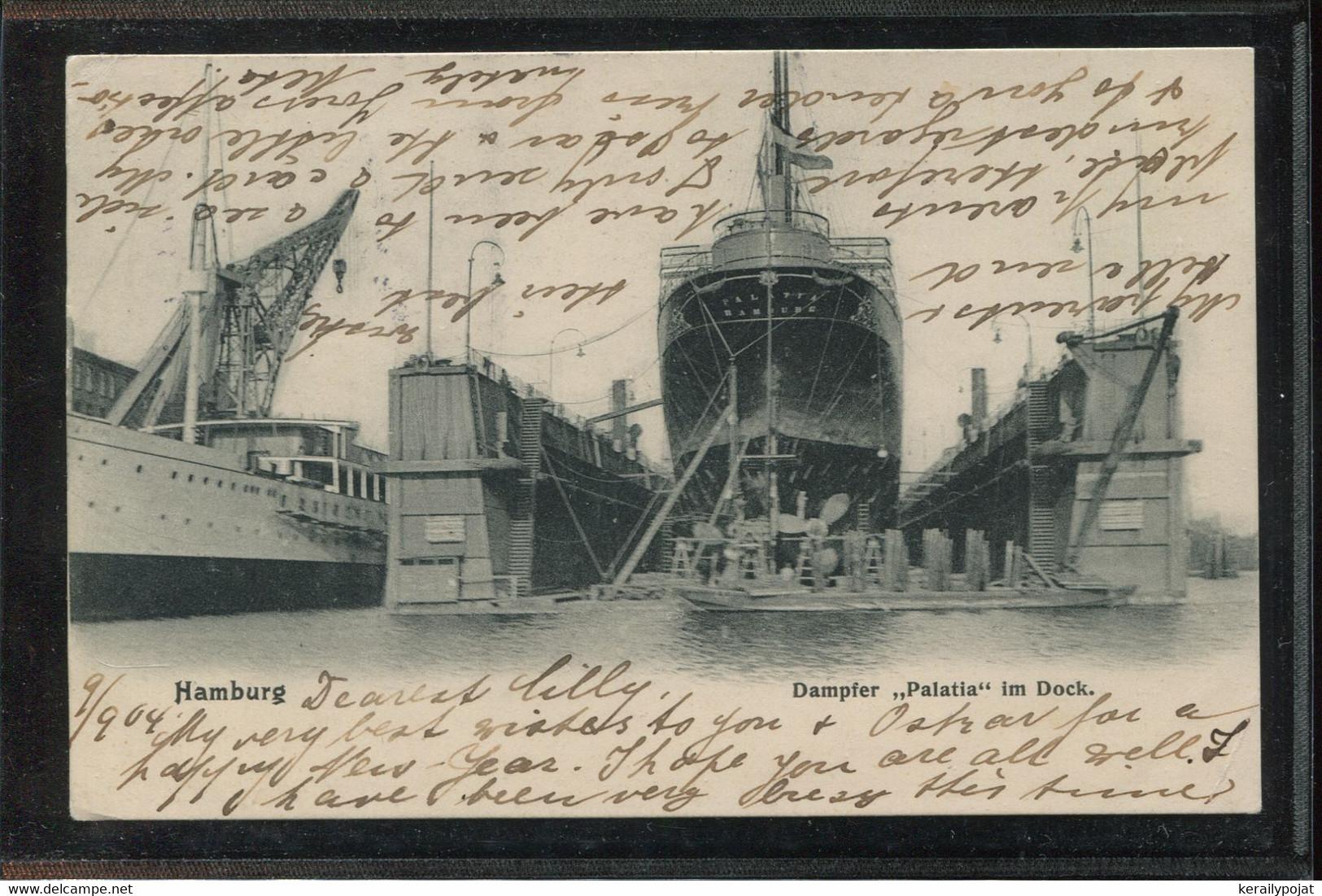 Steamers Dampfer Palatia Im Hamburg Dock -04__(1976) - Paquebote